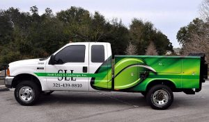 Lawncare custom truck wrap