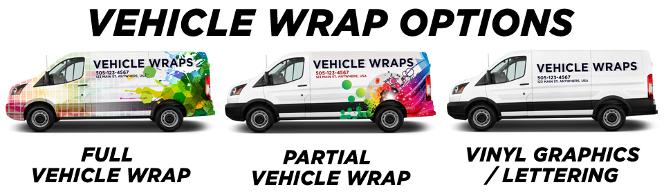 Jones Vehicle Wraps vehicle wrap options
